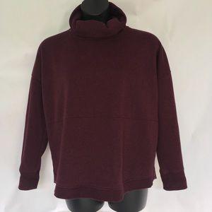 ATHLETA Sweatshirt Cowl Neck Oversized Size L